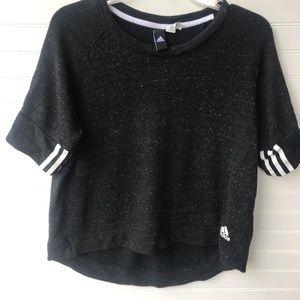 Adidas 3 Stripes Cropped Sweatshirt
